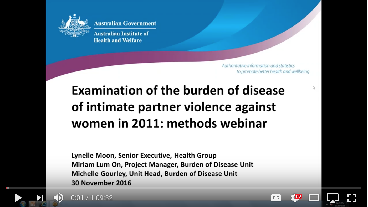 Webinar: AIHW Burden of Disease IPV