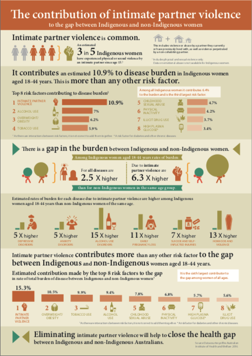 Infographics: The Burden of Disease between Indigenous and non-Indigenous women