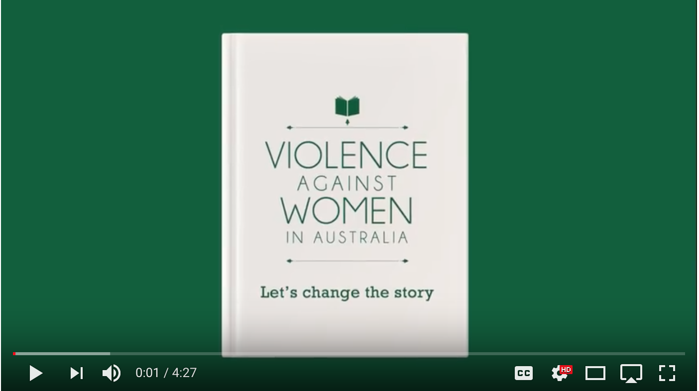 Let's change the story: Violence against women in Australia