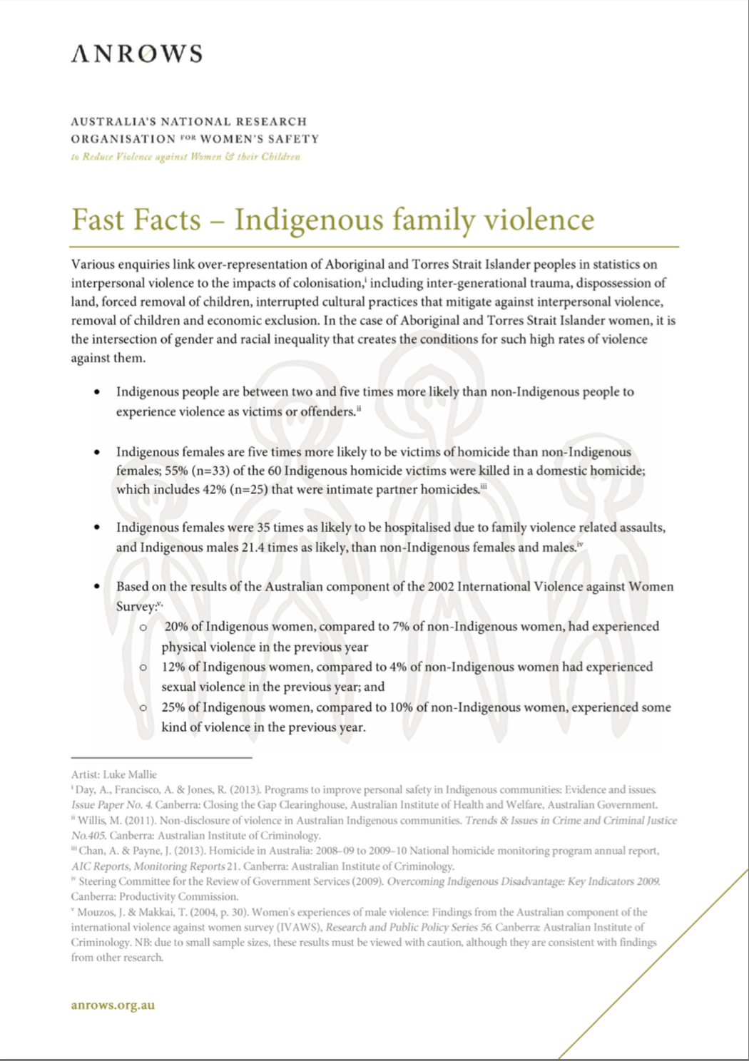 Fast Facts: Indigenous family violence