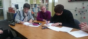 Associate Professor Jan Breckenridge, GVRN Co-Convener, Jozefa Sobski, Jessie Street Library Chair, Heather Nancarrow, ANROWS CEO